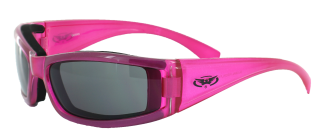 Hot pink riding glasses