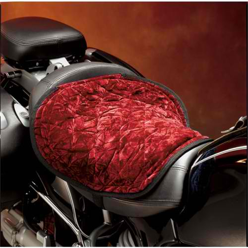 Motorcycle seat pad red