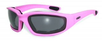 pink riding glasses