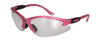 Pink with clear lens glasses