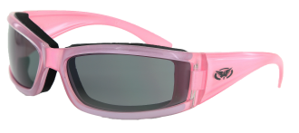 Pink riding glasses smoke lens