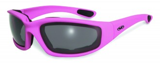 Dark pink riding glasses