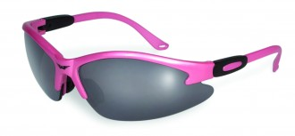 soft pink riding glasses