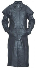 duster long coat leather