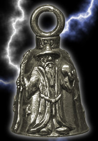 Wizard holding orb bell