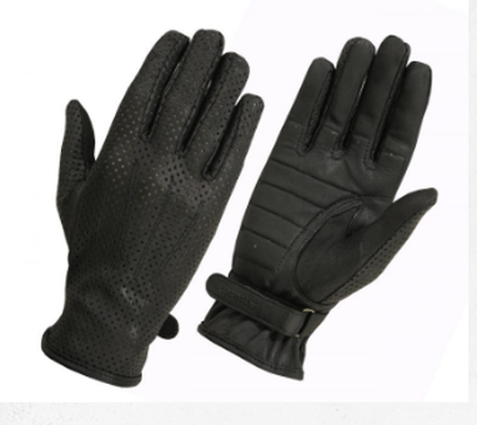 Ladies unlined perforated gloves with padded palm