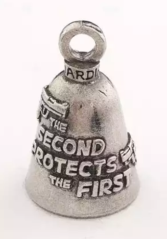 Second Protects the first amendment words on a bell image