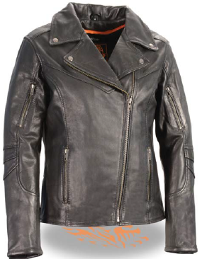 Naked leather touring jacket