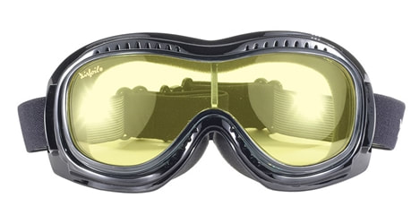 Yellow lens goggles